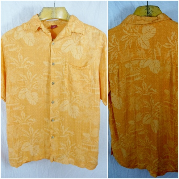 e7f9418e vintage Shirts | Junction West Large Hawaiian Aloha Shirt Orange ...